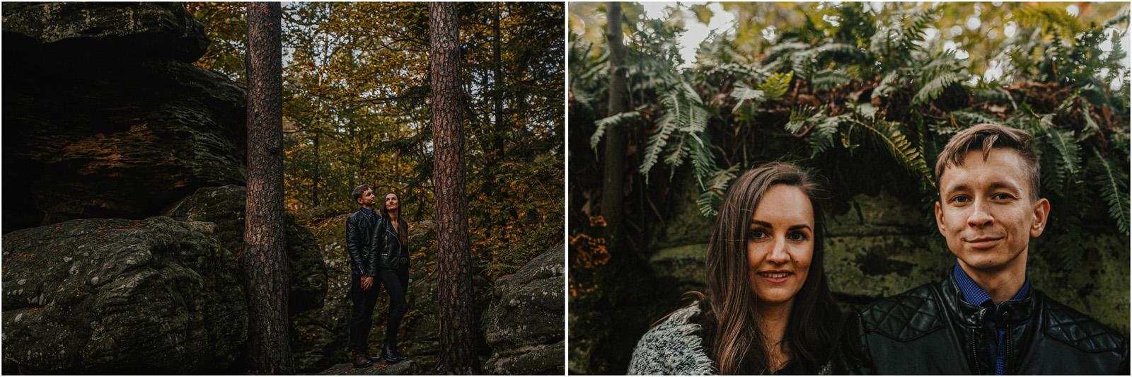 Monika & Marcin | jesienna sesja w Skałkach Piekło 10