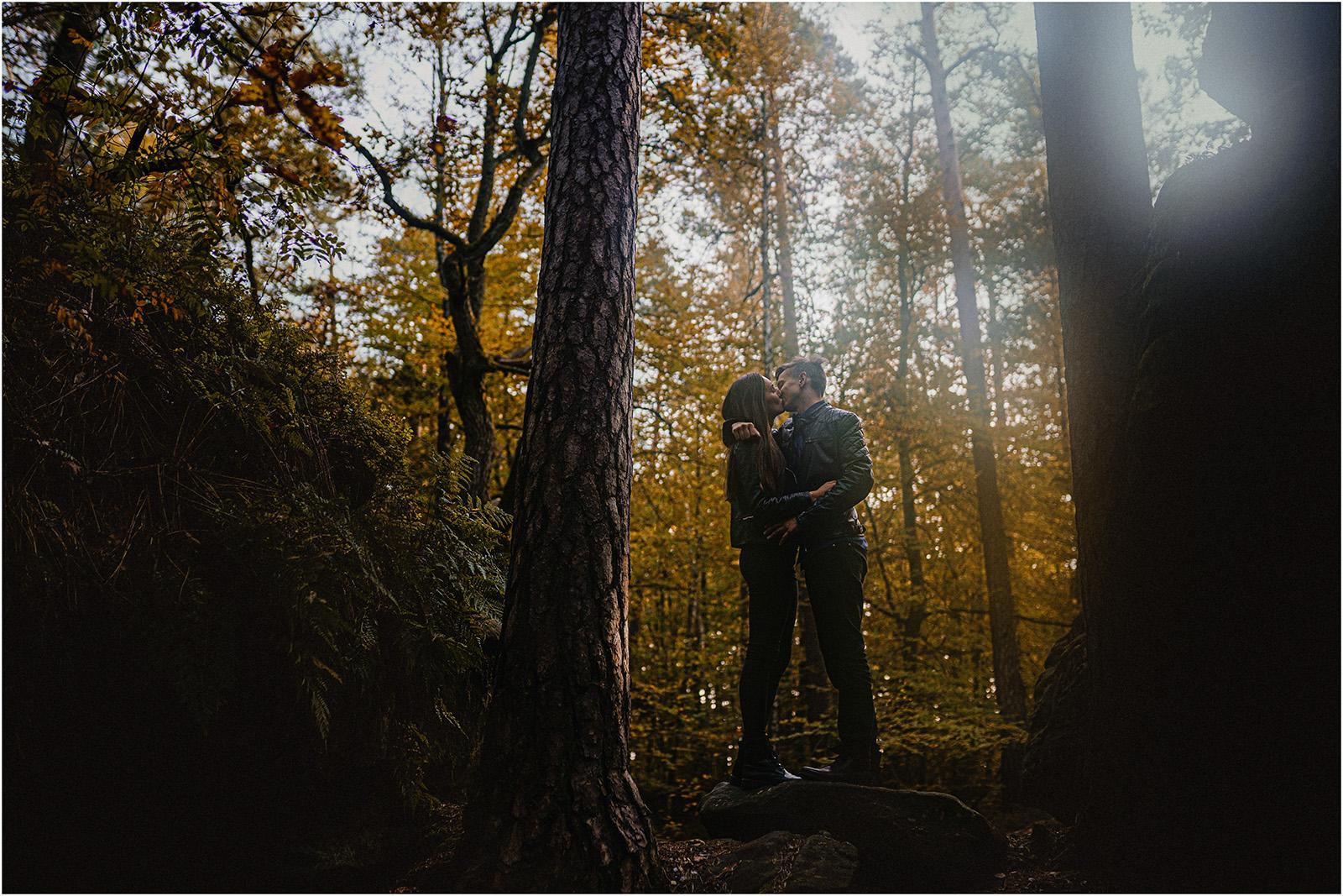 Monika & Marcin | jesienna sesja w Skałkach Piekło 9