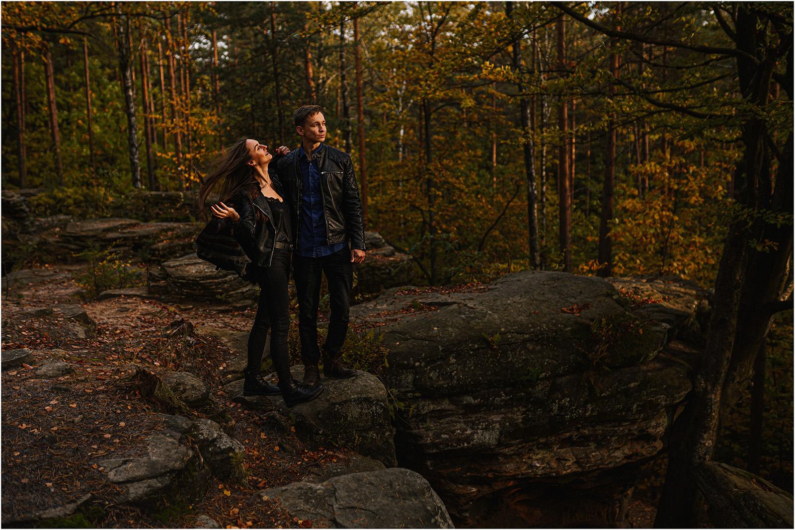 Monika & Marcin | jesienna sesja w Skałkach Piekło 29